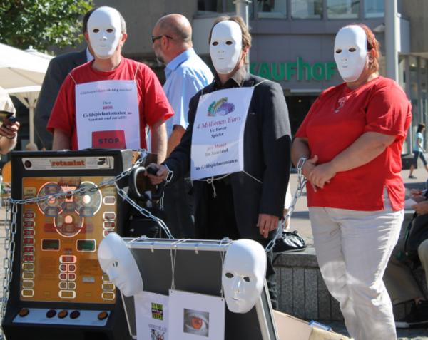 4.000.000,00 EUR verlieren Spieler monatlich an Geldspielautomaten - nur im Saarland.